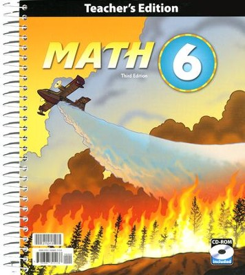 BJU Math Grade 6 Teacher's Edition with CD-ROM (Third Edition)      -