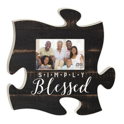 Simply Blessed, Puzzle Photo Frame  -