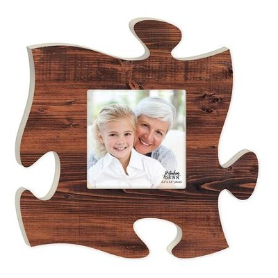 Puzzle Photo Frame, Brown  -