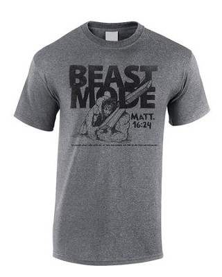 Beast Mode Shirt, Gray, X-Large  -