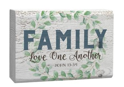 Family, Love One Another, Plaque  -