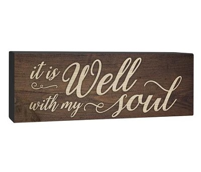 It Is Well With My Soul, Plaque  -
