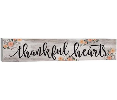 Thankful Hearts, Plaque  -