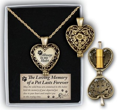Always In My Heart, Pet Memorial Locket  -