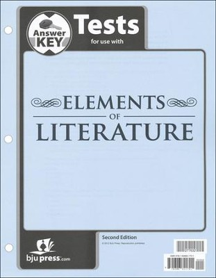 BJU Elements of Literature Grade 10 Test Pack Answer Key   Second Edition  -