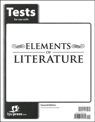 BJU Elements of Literature Grade 10 Test Pack (Second Edition)    -