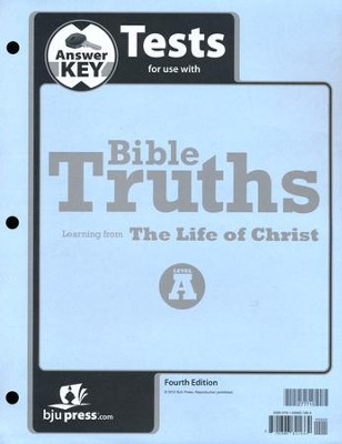 BJU Bible Truths Level A (Grade 7) Test Pack Answer Key   (Fourth Edition)  -