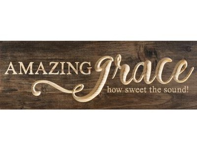 Amazing Grace, Carved Plank Decor   -