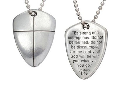 Shield of Faith--Pewter Pendant   -