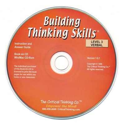 Building Thinking Skills, Level 3, Verbal  (Teacher Book on CD)  -
