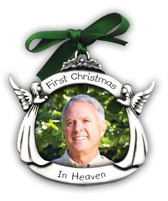 First Christmas In Heaven, Memorial Photo Ornament  -
