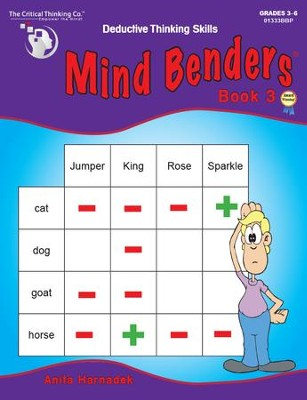 Mind Benders Book 3, Grades 3-6   -
