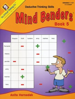 Mind Benders Book 5, Grades 7-12   -
