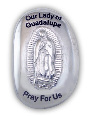 Our Lady Of Guadalupe, Pray For Us Pocket Stone  -