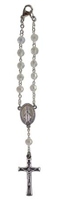 April, Rosary Car Charm  -