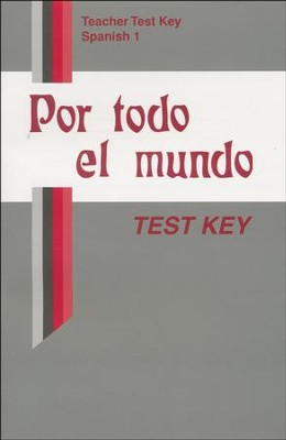 Abeka Por todo el mundo Spanish Year 1 Tests Key   -