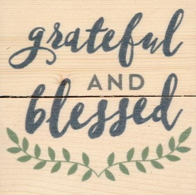 Grateful and Blessed, Rustic Magnet  -