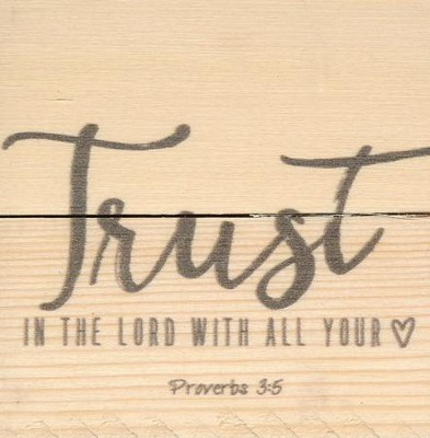 Trust In the Lord, Rustic Magnet  -