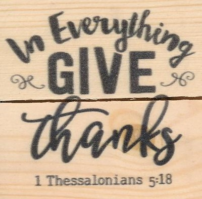 In Everything, Give Thanks, Rustic Magnet  -