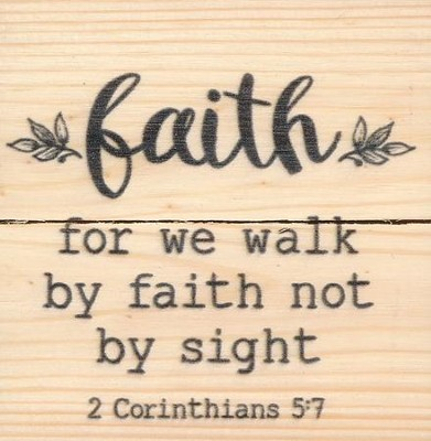 Faith, For We Walk By Faith Not By Sight, Rustic Magnet  -