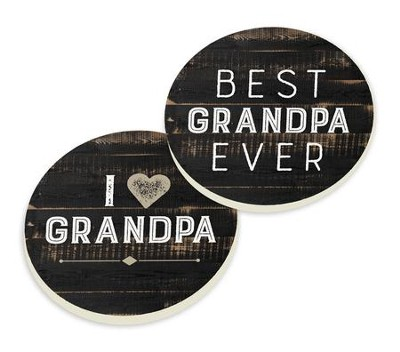 Grandpa, Car Coasters, Set of 2  -