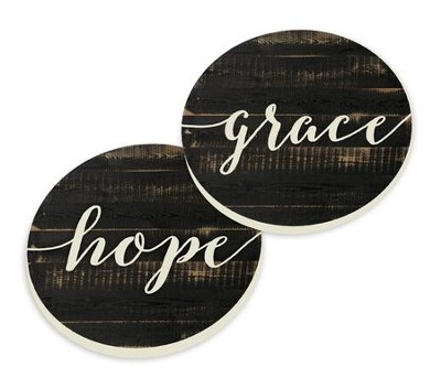 Grace and Hope, Car Coasters, Set of 2  -