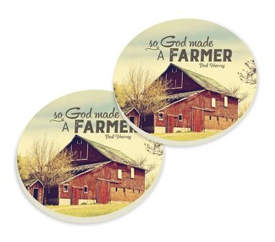 So, God Made A Farmer, Car Coasters, Set of 2  -