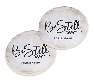 Be Still, Car Coasters, Set of 2  -