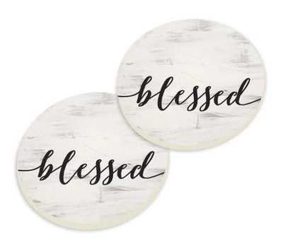 Blessed, Car Coasters, Set of 2  -