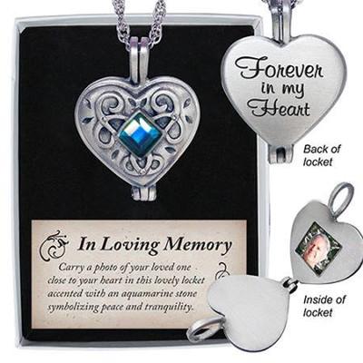 Forever in my heart memorial locket christianbook forever in my heart memorial locket aloadofball Gallery