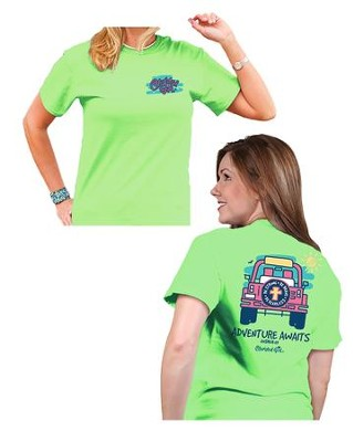 Adventure Awaits Shirt, Green, Medium  -