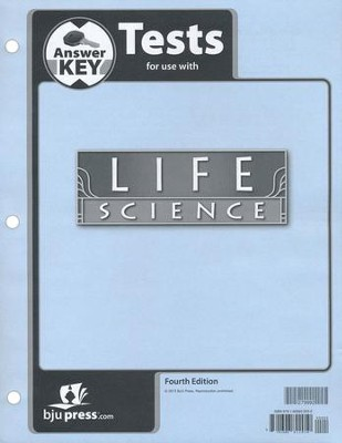BJU Life Science Grade 7 Test Key, 4th Edition   -