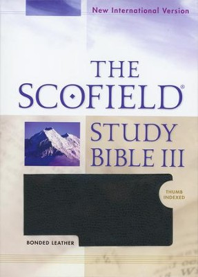 NIV Scofield Study Bible III Bonded Leather Black, Indexed 1984  -