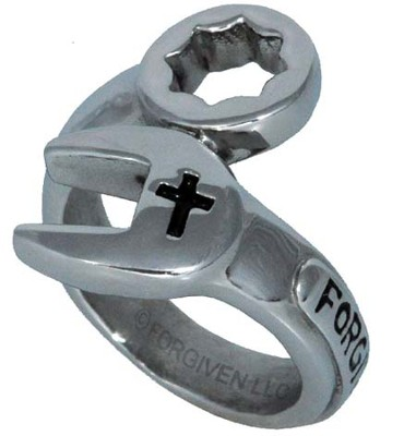 Wrench Ring, Silver, Size 10  -
