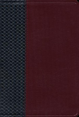 The NIV Scofield Study Bible III (1984), bonded leather  basketweave, black/burgundy--indexed   -