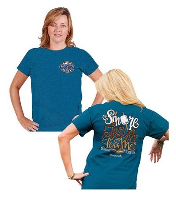 S'More Jesus, Less Me Shirt, Blue, XX-Large  -