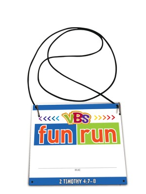 Jeff Slaughter VBS Fun Run 2015: Name Badge & Lanyard, Pack of 10   -