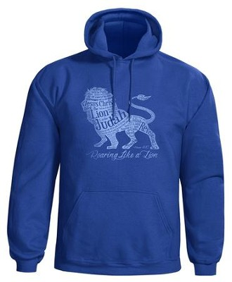 Roaring Lion Hooded Sweatshirt, Blue, Medium  -
