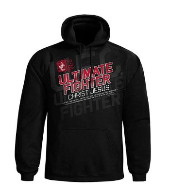 Ultimate Fighter Hooded Sweatshirt, Black, Small  -