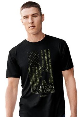 Freedom Was Not Free Shirt, Black, XX-Large  -