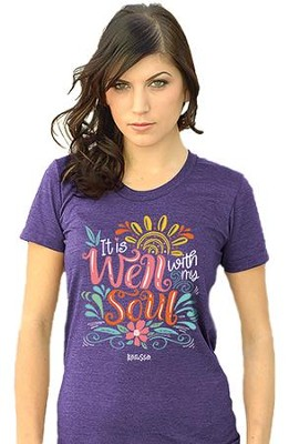 It Is Well With My Soul Shirt, Purple, X-Large  -