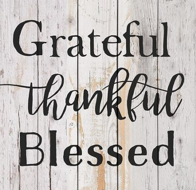 Grateful, Thankful, Blessed, Pallet Decor   -