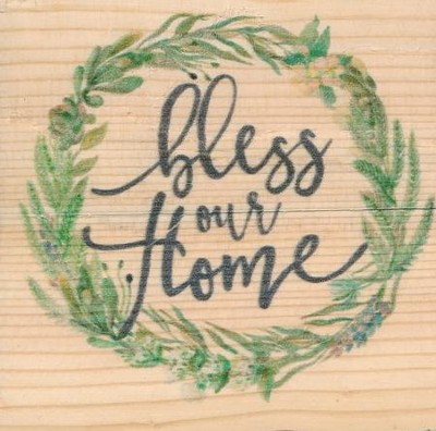 Bless Our Home, Rustic Magnet  -