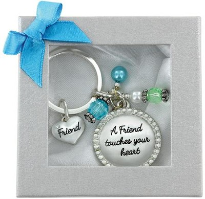Friend Touches Your Heart Keychain  -