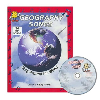 Audio Memory Geography Songs CD, Workbook, and Map   -     By: Larry Troxel, Kathy Troxel