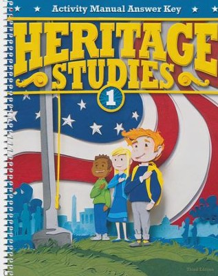 BJU Heritage Studies Grade 1 Activity Manual Answer Key, 3rd Ed.   -