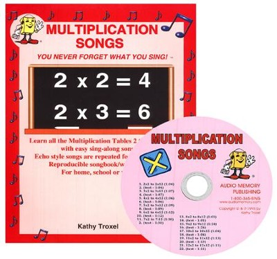 Audio Memory Multiplication Songs Workbook & CD Set    -     By: Larry Troxel, Kathy Troxel