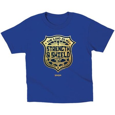 The Lord is My Strength and Shield Shirt, Blue, Toddler 4  -