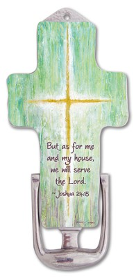 As For Me and My House, Cross Door Knocker  -     By: Caroline Simas