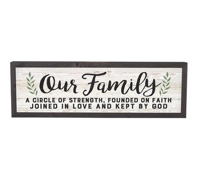 Our Family A Circle Of Strength Framed Decor Christianbookcom